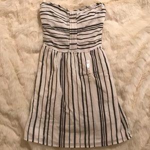 Gap Strapless Linen Dress NWT XS